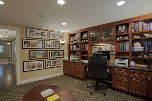 This Case Design/Remodeling Remodel Converted The Existing Living Room Into  An Office/den And Borrowed Unused Room From The Remaining Floor Plan To  Create ...