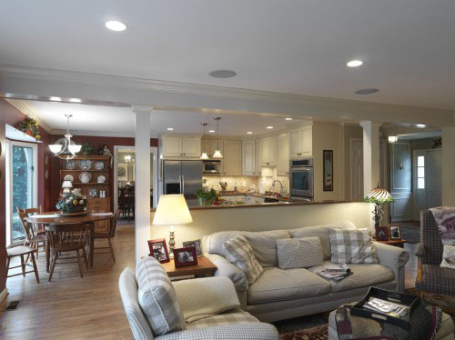 The pros and cons of open floor plans case design remodeling for Great room floor plans