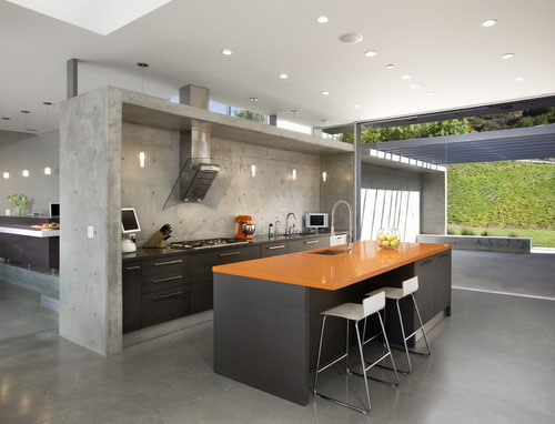 Sometimes Concrete Can Double As A Structural Element And Design Feature.  This Kitchen Surround By Abramson Teiger Architects Breaks Up The Homeu0027s  Open ...