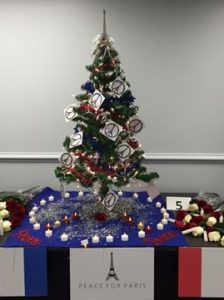 Peace for Paris themed tree