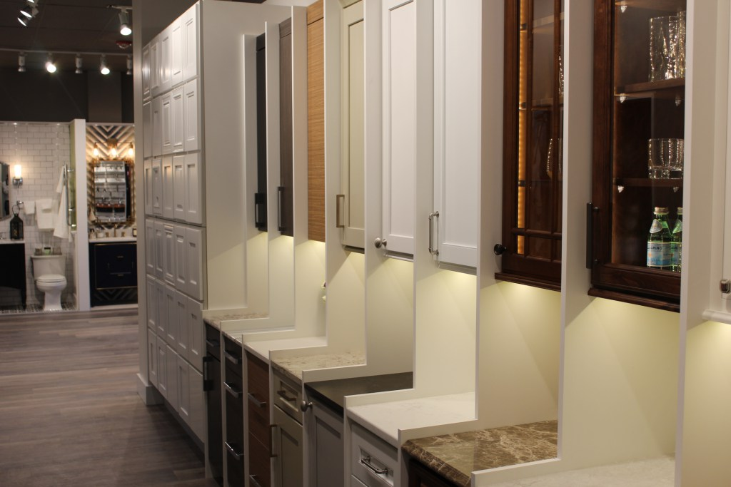 Sample cabinets and countertops