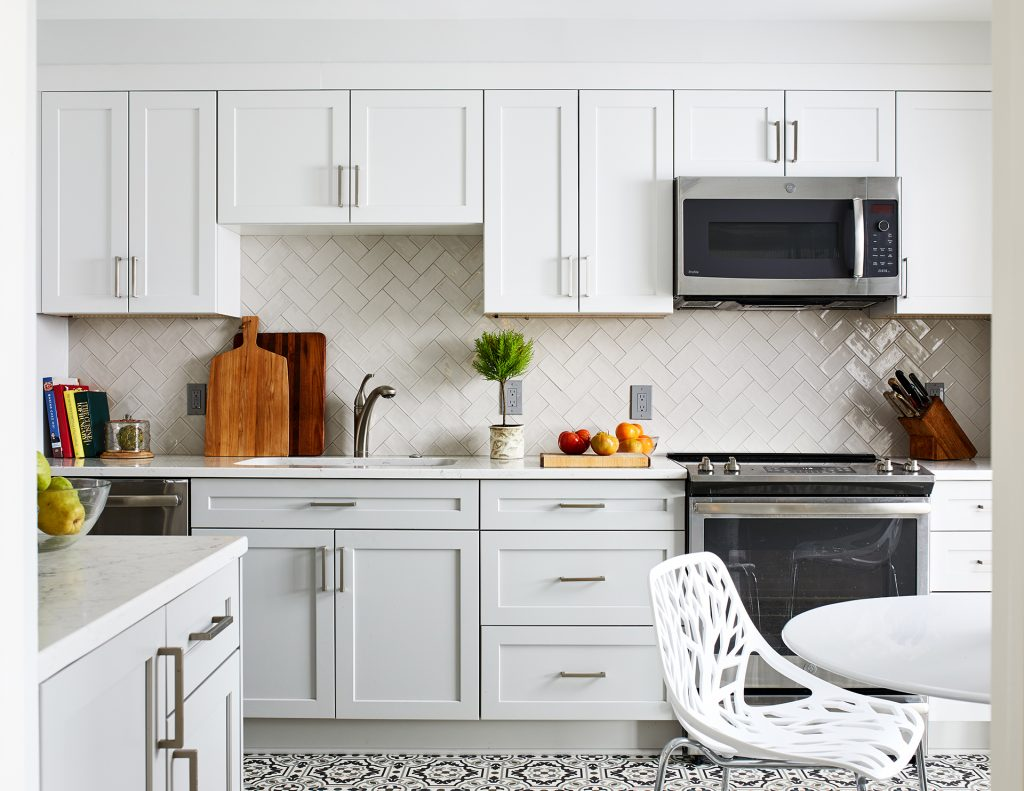 dc kitchen remodel black and white transitional