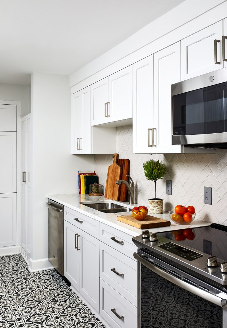 dc design build black and white kitchen