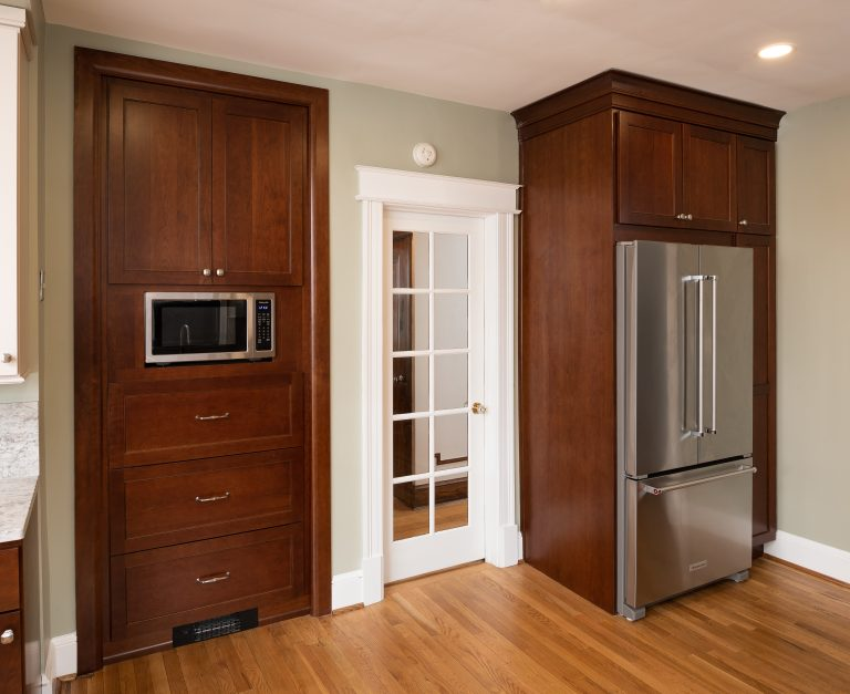 kitchen design microwave built in pantry and built in fridge in cabinet with side pantry